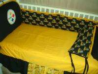 Baby Nursery Crib Bedding Set w/Pittsburgh Steelers NEW