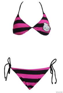 Hello Kitty Pink Triangle String Bikini Set With Rhinestones