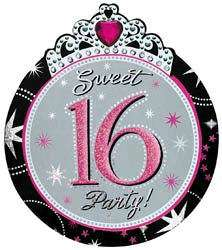 Sweet Sixteen 16th Birthday Party Pack Of 8 Invitations