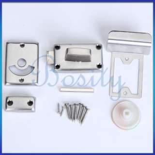 Stainless Steel Vacant Engaged WC Toilet Bathroom Indicator Bolt Door