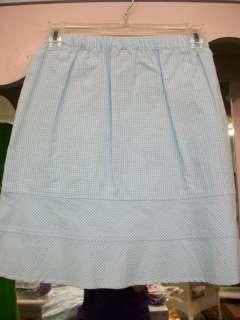 Florence Eiseman Girls Blue/White Skirt