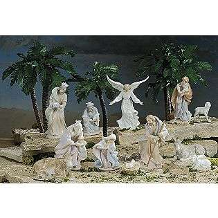 In. 12 Piece Porcelain Nativity Set, The Valencia Collection