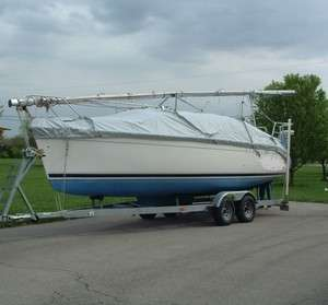 HUNTER 260 MOORING / TRAILERING COVER LIGHTLY USED MADE BY SAILORS