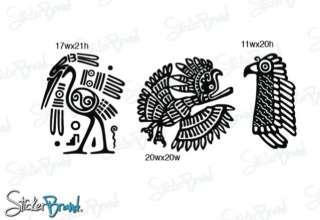 Vinyl Wall Decal Sticker Mayan Animal Symbols