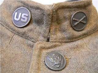 ORIGINAL WORLD WAR 1 US ARMY M 1912 WOOL MILITARY UNIFORM ARTILLERY