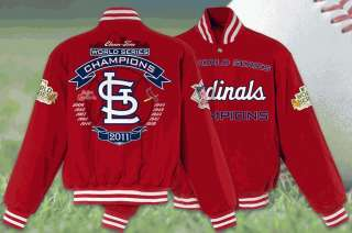 2011 St Louis Cardinals Wool World Series Championship Jacket Coat