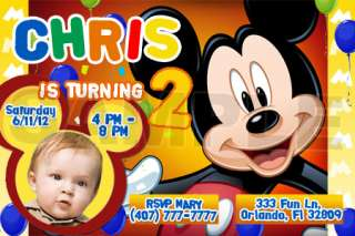 MICKEY MOUSE CLUBHOUSE BIRTHDAY INVITATIONS   PRINTABLE