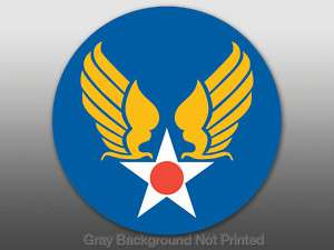 Round Army Air Corps Sticker   decal military force USA
