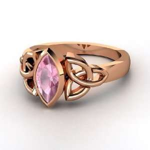Caitlin Ring, 18K Rose Gold Ring with Pink Tourmaline