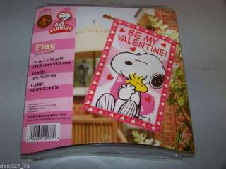 VALENTINES DAY Peanuts Snoopy FULL SIZED 38x25 Flag
