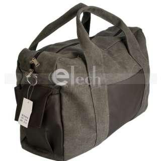 Canvas Men Zipper Duffel Gym Bag Travel Luggage Bag Messenger Bag Tote