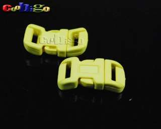 25X 1/2 Contoured Side Release Buckle For Paracord Bracelets Mixed