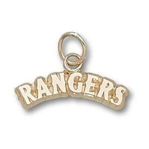 Texas Rangers 10K Gold Arched RANGERS 3/16 Pendant