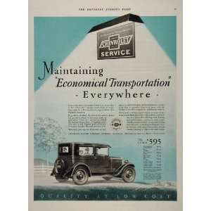 1927 Ad Chevrolet Chevy Service Automobile Antique Car