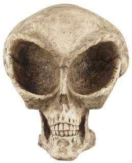 LARGE ALIEN SKULL HALLOWEEN DECORATION UFO AREA 51 NEW