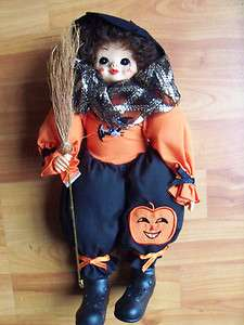 1988 Brinns October Calendar Clown Halloween Doll 14 EUC