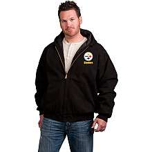Reebok Pittsburgh Steelers Big & Tall Cumberland Full Zip Quilt Lined