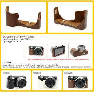 HorusBennu Camera Half Case Bag (3color) for Sony NEX 5