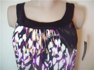 Blooming Rose Black Ladies Misses Tank Top Shirt Blouse S M