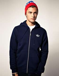 Adidas Originals  Adidas Originals   Felpa in pile con cappuccio e