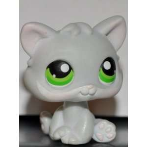 Kitten #88 (Cat, Grey, Green Eyes) Littlest Pet Shop 2005