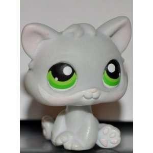 Kitten #88 (Cat, Grey, Green Eyes) Littlest Pet Shop 2005