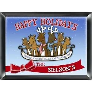 Christmas Reindeer Family Sign Wall Decor