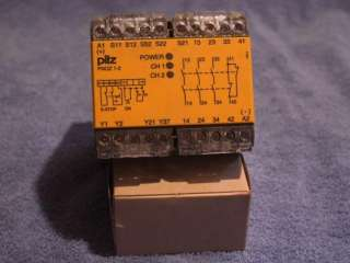 Pilz PNOZ 1 2 24VDC 3S10 Safety Relay, ID# 474696, Used
