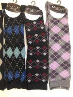 Pair CHATTIES ARGLYE DRESS KNEE HIGH SOCKS FALL/WINTER 9 11 Ladies