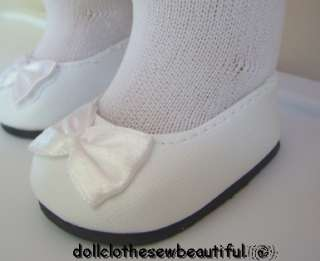 DOLL CLOTHES AMERICAN GIRL NELLIE WHITE SHOES & TIGHTS