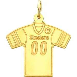 Gold NFL Pittsburgh Steelers Football Jersey Charm
