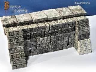 Burgmauer Terrarium Dekoration Einrichtung selber bauen