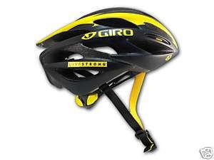 Giro Saros Helmet Matte Black Yellow Livestrong Small