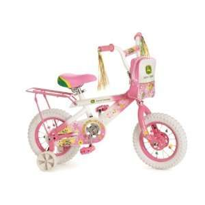 John Deere 12 Girls Bike   Pink