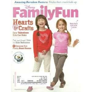 Disney Family Fun Magazine February 2012 Hearts & Crafts