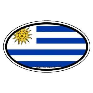 Uruguay Flag Car Bumper Sticker Decal Oval Automotive