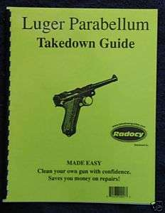 Luger Parabellum Pistols Assembly Dis. guide Radocy