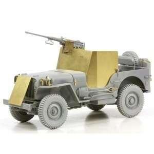 1/35 1/4 Ton Armored 4x4 Truck w/.50 Cal Gun, NT: Toys