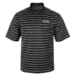 Baltimore Ravens Fan Pride Short Sleeve Striped Polo