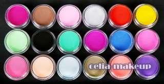 FULL 24 Acrylic Powder UV Primer Glitter Liquid NAIL ART 500 TIP Brush