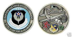 HURLBURT FIELD FL SPEC OPS AIR FORCE CHALLENGE COIN