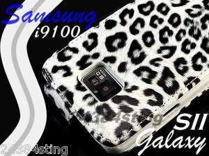 LEOPARD WHITE SKIN LEATHER FLIP CASE COVER POUCH for SAMSUNG GALAXY S