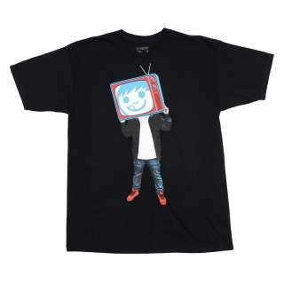 NWT 2012 Neff SUCKERVISION Tee Shirt BLACK Medium XXL