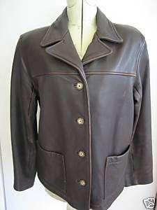 KENNETH COLE Brown Ladies Leather Jacket Medium