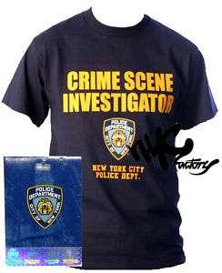 NYPD CSI CRIME SCENE INVESTIGATOR MENS NAVY T SHIRT XL