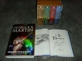 GEORGE R R MARTIN AUTOGRAPHED SUPER LOT~SCIENCE FICTION~FANTASY