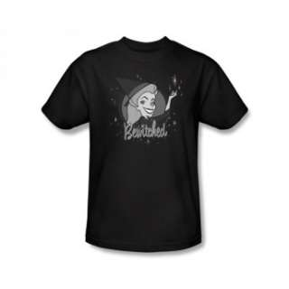 Bewitched Logo Classic Retro TV Show Black T Shirt Tee