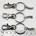 10 Lobster Clasps Swivel Trigger Clips Snap Hooks Key Ring Bag Charm