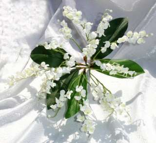 LILY of the VALLEY Bouquet Sprays Silk Wedding Flowers Centerpieces