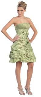 Semi Formal Strapless Prom Cocktail Dress Plus